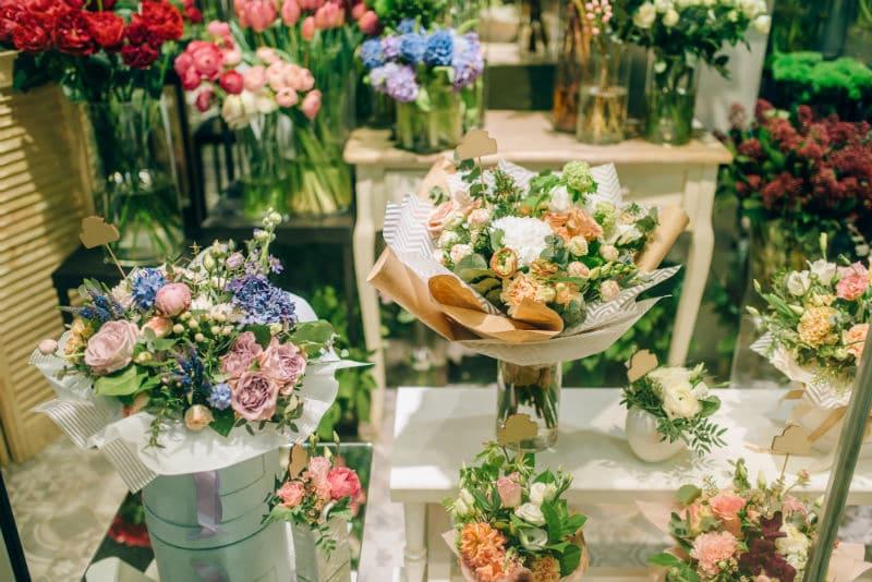 Magasin d'une fleuriste