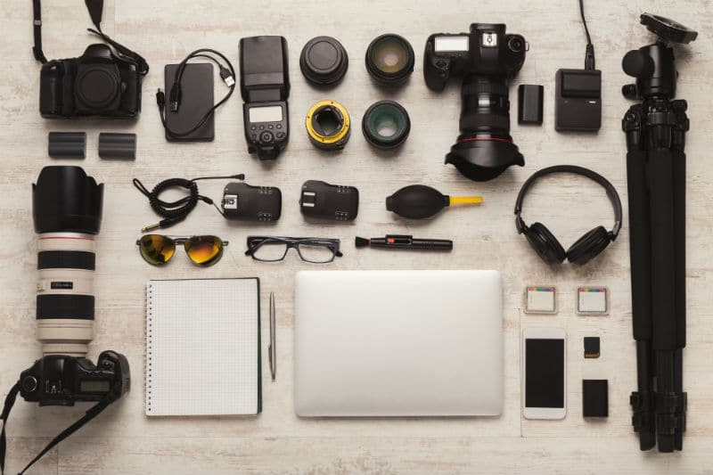 Matériel d'un Photographe